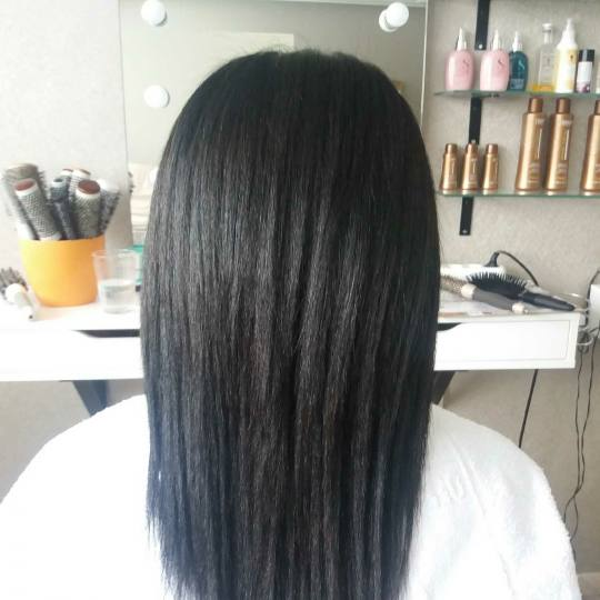 Vortex #beograd Keratinski tretmani Keratinsko ispravljanje kose - kosa srednja dužine
