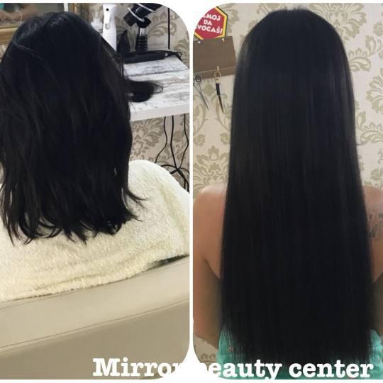 Mirror Beauty Centar #beograd Nadogradnja kose Usluga nadogradnje sa donetom kosom - po pramenu