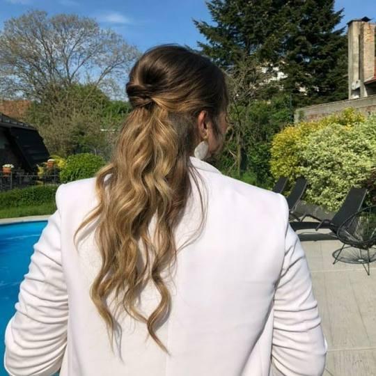 X Style #novisad Svečane i frizure za svadbu Punđa - jednostavna
