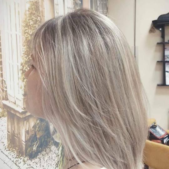 Hair by Silvy #beograd Pramenovi Pramenovi na foliju + toniranje + feniranje - ekstra duga kosa Pram