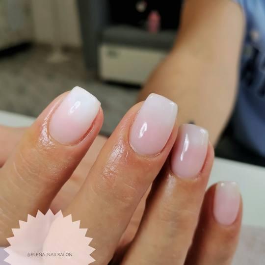 Elena Nails #beograd Ojačavanje noktiju Korekcija ojačavanja noktiju gelom - boja Nežni Baby boom