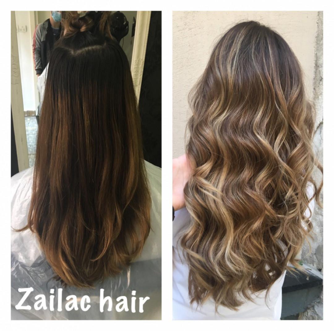 LookBook Zailac hair Balayage / pramenovi Echosline + žensko šišanje + feniranje + olaplex za negu - sve dužine kose