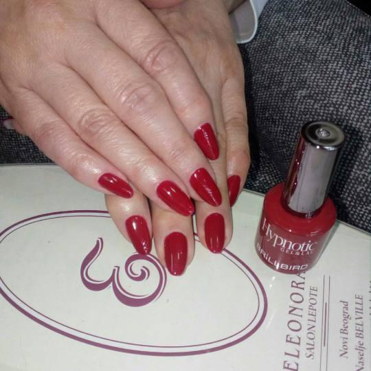 Eleonora #beograd Ojačavanje noktiju Ojačavanje noktiju gelom + gel lak ojacavanje noktiju gelom +