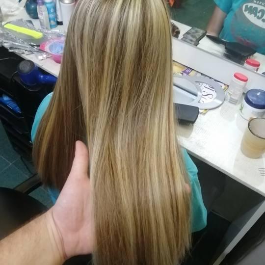 Candir #novisad Pramenovi Pramenovi na foliju - duga kosa + feniranje