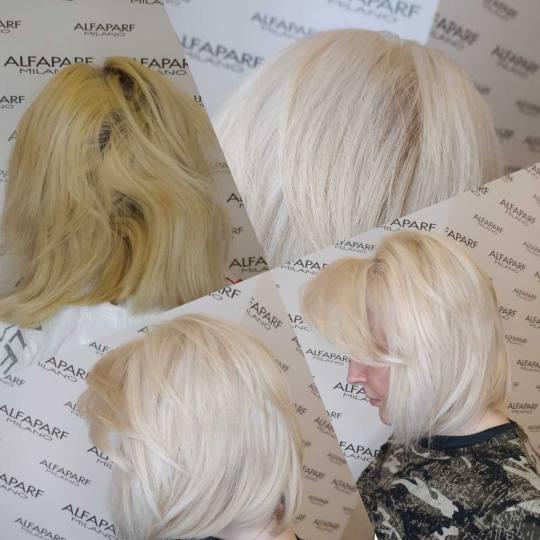 Alfaparf Studio #beograd Blajhanje kose Blajhanje kose srednje dužine