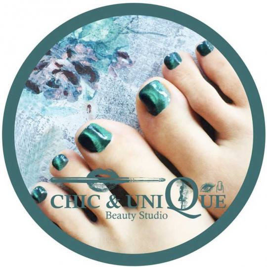 Chic & Unique #beograd Estetski pedikir SPA estetski pedikir + gel lak Pedicure cat eye magnetic ref