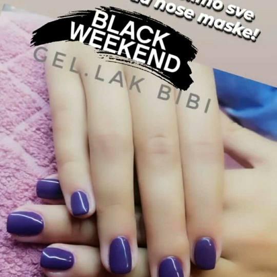 Bibi beauty centar #beograd Gel lak Gel lak - ruke black weekend 20% popusta