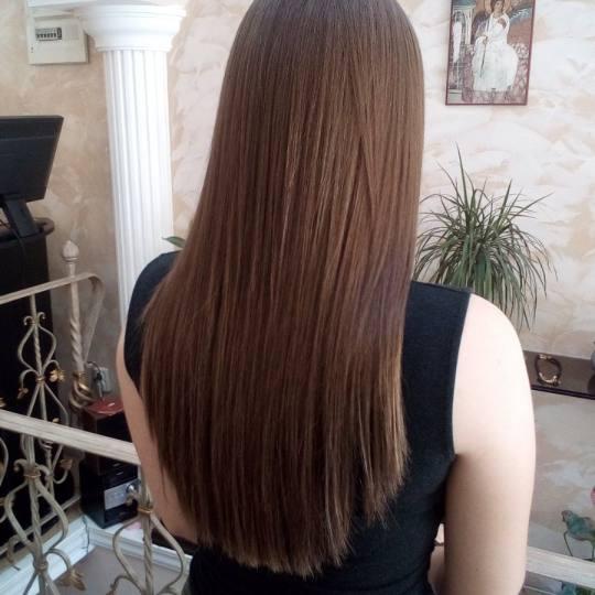 L 'amie salon de beaute #beograd Feniranje i stilizovanje Feniranje na ravno - duga kosa
