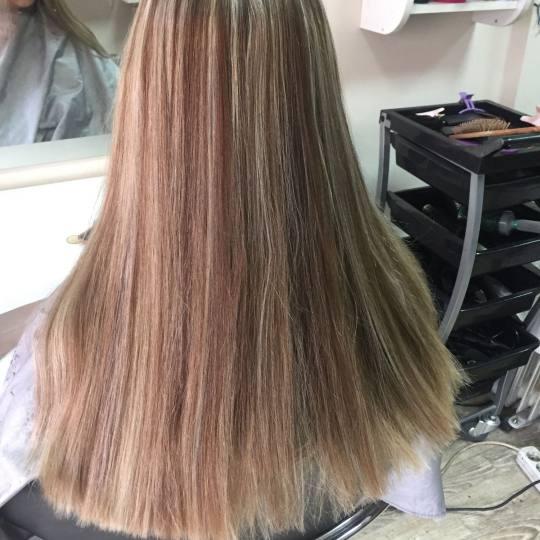 Wild style #nis Farbanje kose Uslužno šatiranje na kapu 1 boja + preliv - duga kosa