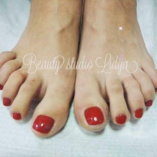 Beauty studio Lidija #beograd Estetski pedikir Estetski pedikir + lakiranje noktiju
