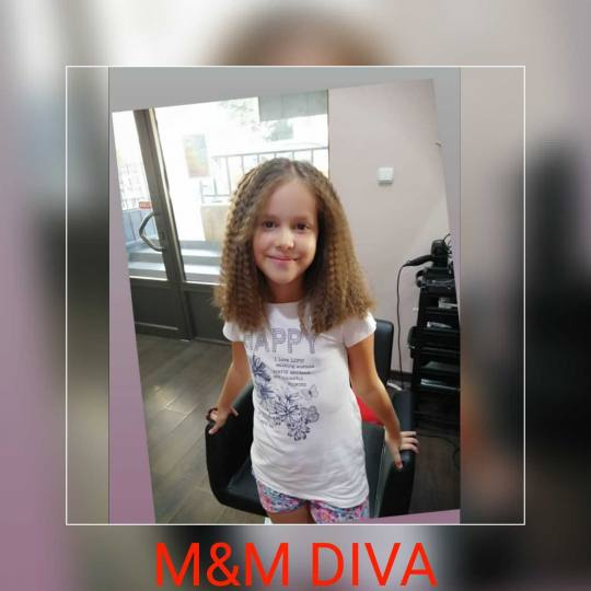 M&M Diva #beograd Uvijanje, lokne i talasi Cik cak presa - kosa srednje dužine
