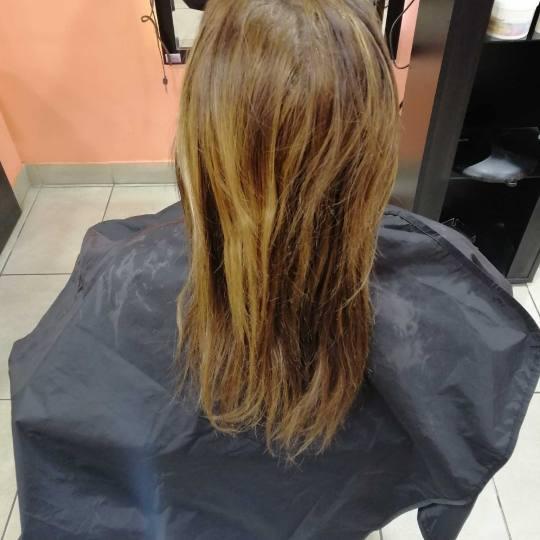Hair Studio K1 #beograd Farbanje kose Ombre i balayage - srednja dužina kose Pre