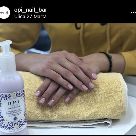 OPI Nail Bar #beograd Gel lak Manikir + OPI gel lak