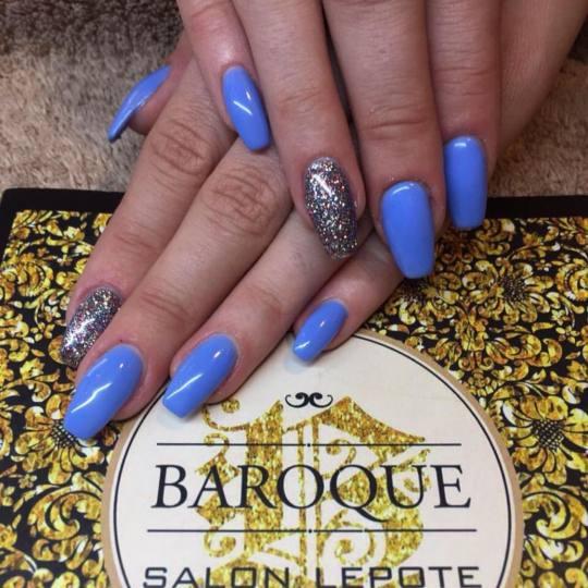 Baroque #beograd Izlivanje noktiju Izlivanje noktiju gelom - extra dugi nokti