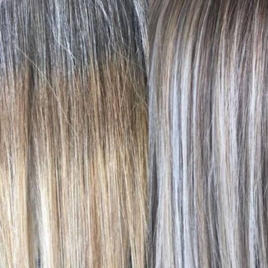 Lida Doll #krusevac Pramenovi Izvlačenje pramenova na foliju u 1 boji + blanš + preliv - duga kosa