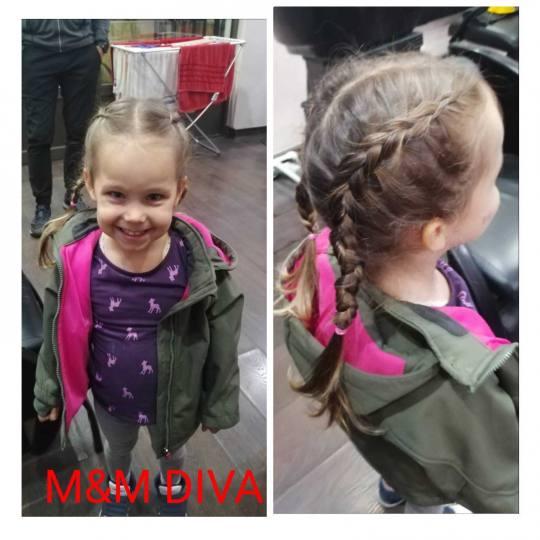 M&M Diva #beograd Pletenice, kike, punđe Riblja kost - jedna