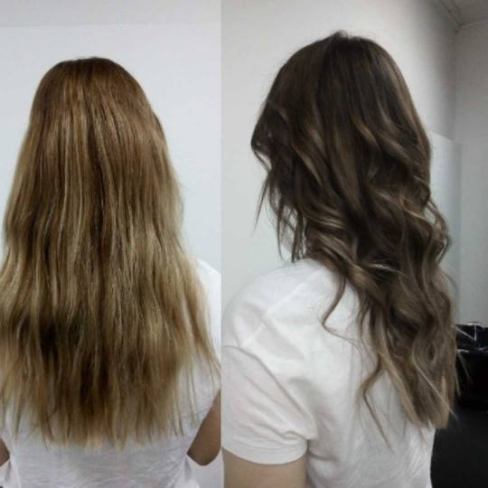 Hairrific #novisad Ombre, sombre, balayage Balayage + preliv + feniranje - duga kosa pre i posle