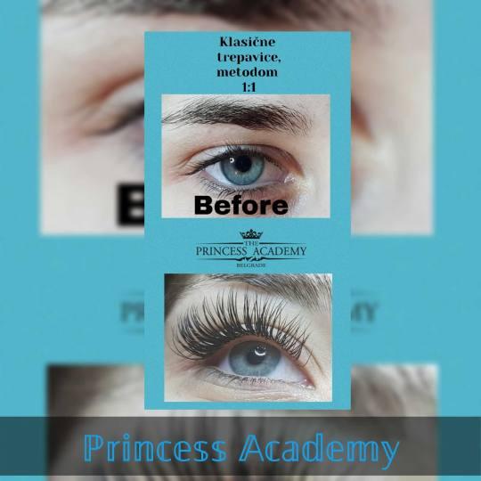 The Princess Academy #beograd Nadogradnja trepavica Nadogradnja svilenih trepavica + prva korekcija