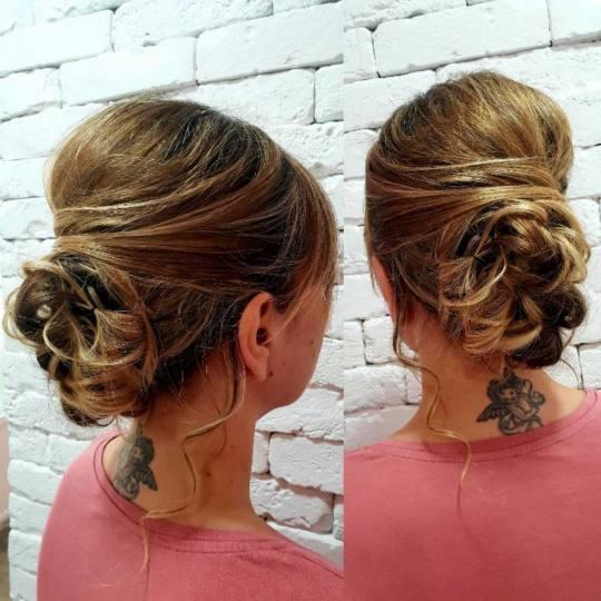 Beauty Express bar #beograd Svečane i frizure za svadbu Svečana frizura + profesionalno šminkanje