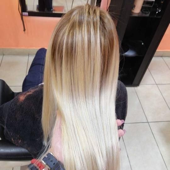 Hair Studio K1 #beograd Farbanje kose Balayage + feniranje na ravno / lokne - sve dužine kose Posle