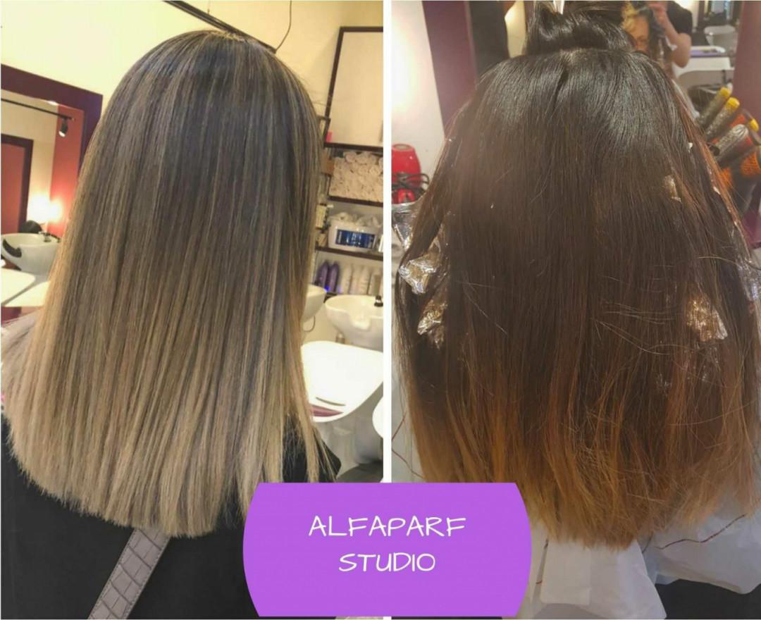 LookBook Alfaparf Studio Ada Mall Pramenovi na foliju + preliv - ekstra duga kosa
