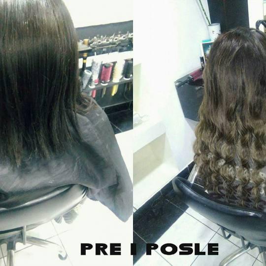 Headroom #beograd Feniranje i stilizovanje Feniranje kose sa umetcima na ravno / lokne Feniranje sa