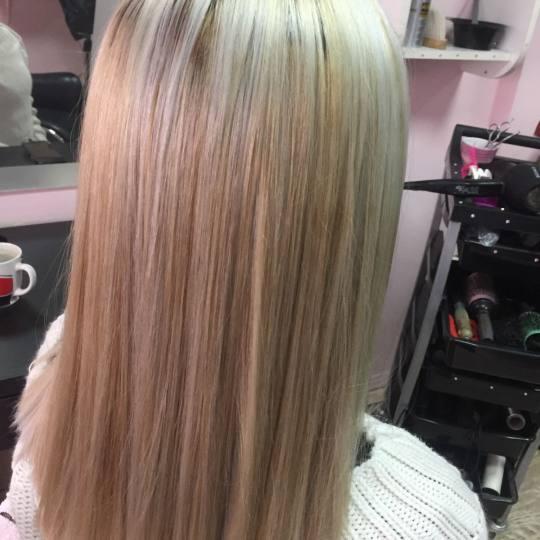 Wild style #nis Farbanje kose Uslužno šatiranje na foliju 1 boja + preliv - duga kosa