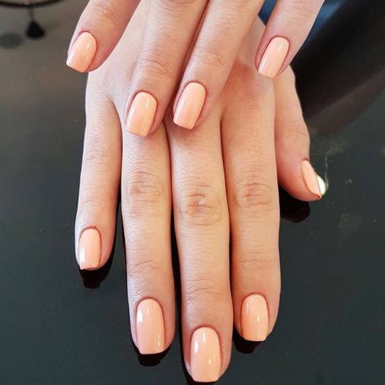 Beauty Station #beograd Gel lak Manikir + Shellac trajni lak Shellac Salmon run