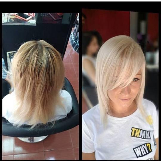 Sarah Jay Team #beograd Farbanje kose Farbanje kose srednje dužine
