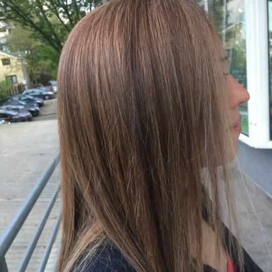 Lejla #beograd Pramenovi Pramenovi na foliju - duga kosa