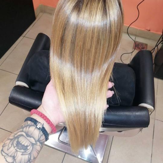 Hair Studio K1 #beograd Keratinski tretmani Keratinsko ispravljanje kose - srednja dužina kose Posl