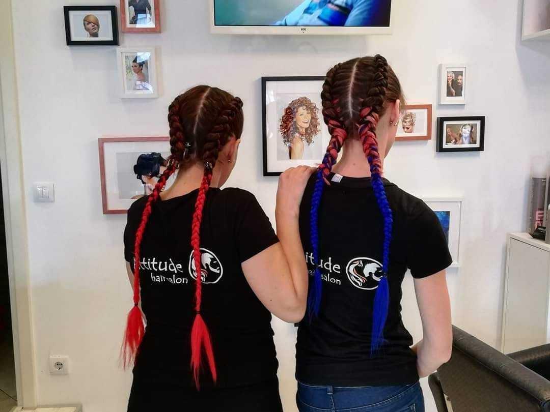 LookBook Attitude hair salon Pletenice u bojama - sve dužine kose