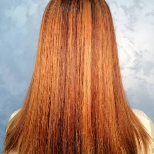 Dre12 #beograd Pramenovi Pramenovi / balayage / ombre + preliv - duga kosa Kombinovana debljina pram