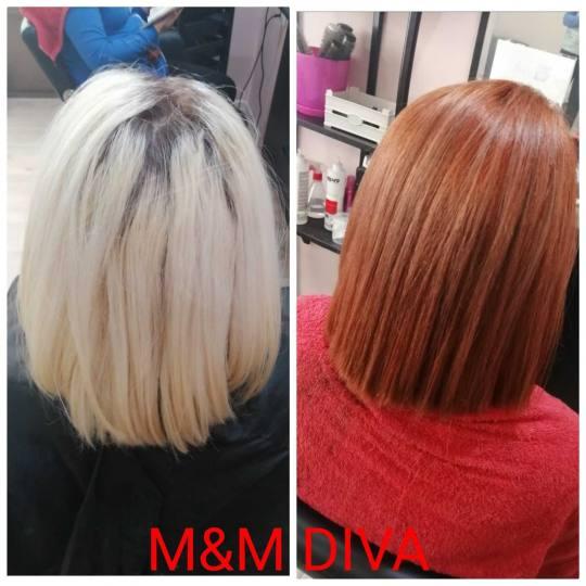 M&M Diva #beograd Farbanje kose Farbanje cele dužine - kosa srednje dužine