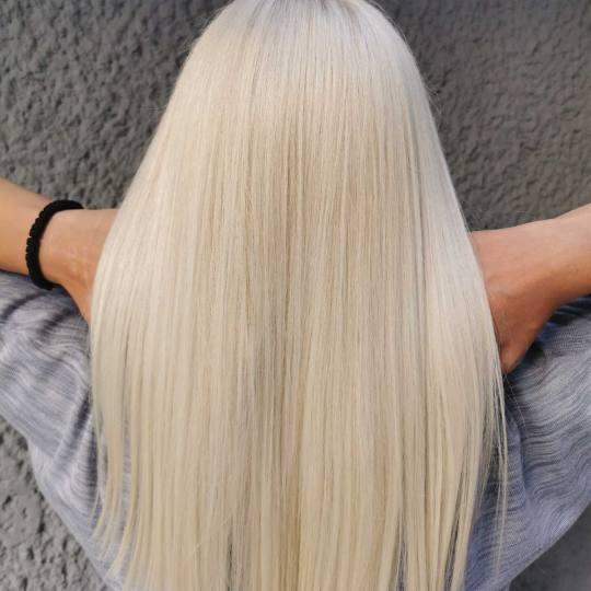 Cecix #beograd Farbanje kose Ultimate Blond - kosa srednje dužine