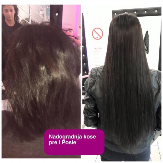 Plavi anđeo #beograd Nadogradnja kose Nadogradnja kose - afrička metoda