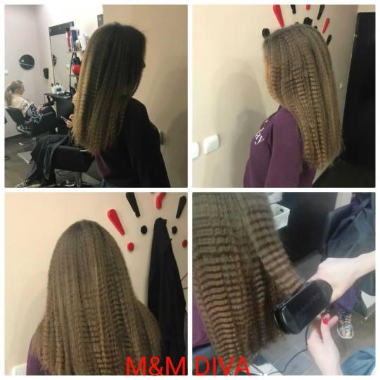 M&M Diva #beograd Uvijanje, lokne i talasi Cik cak presa - duga kosa