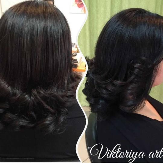 Victoriya Art #beograd Feniranje i stilizovanje Feniranje na lokne - kosa srednje dužine