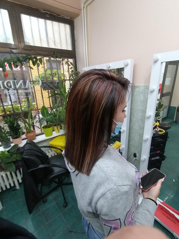 LookBook Candir Pramenovi na foliju - kosa srednje dužine + feniranje