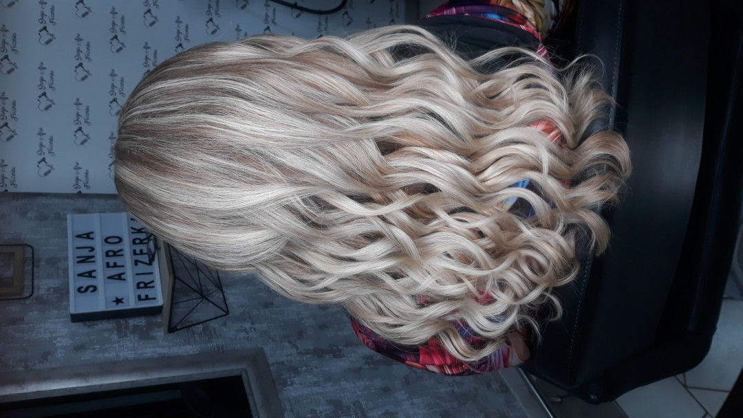 LookBook Sanja Afro Frizerka Lokne / talasi / cik cak - srednja i duga kosa
