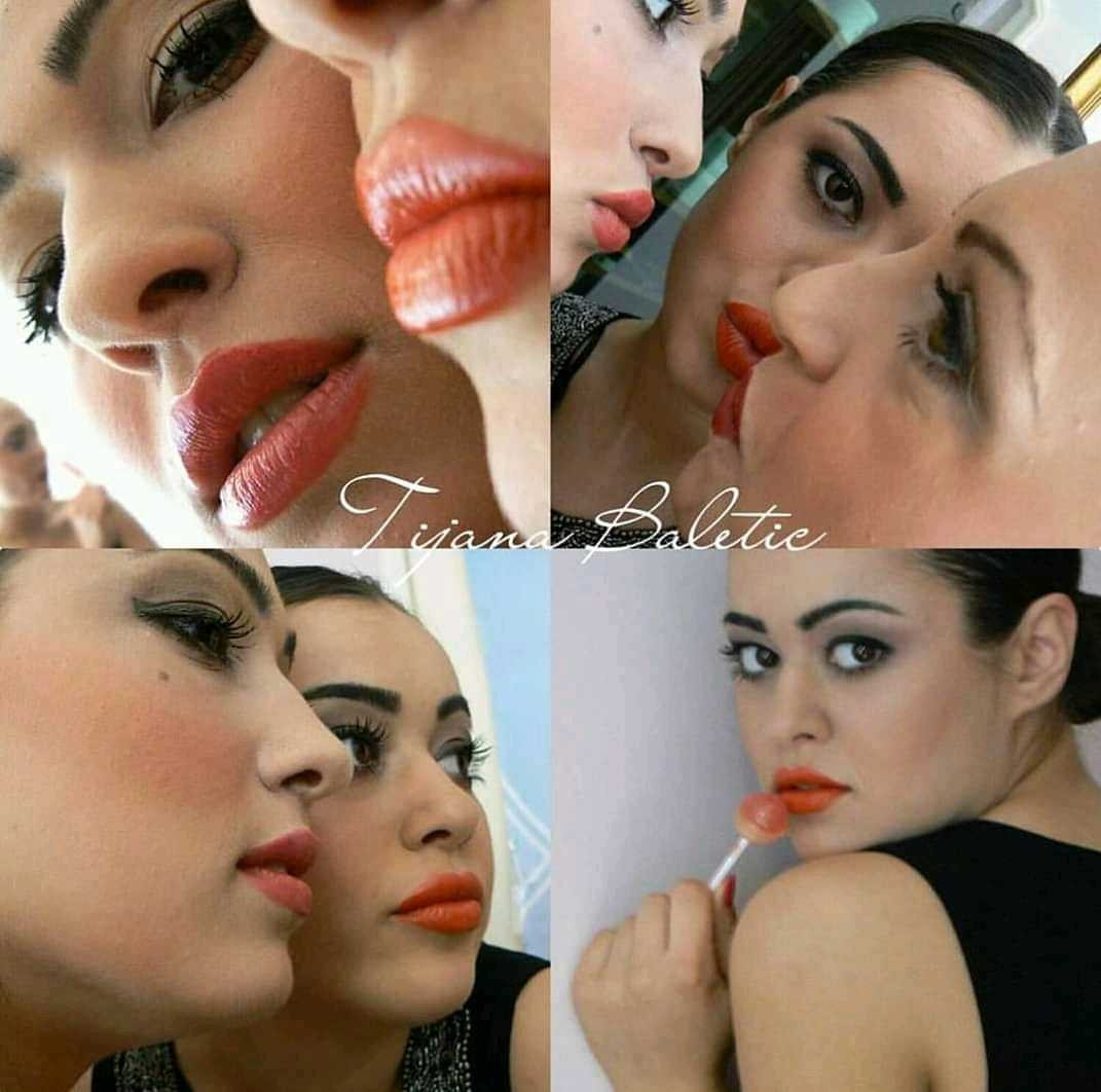 LookBook Tina B Profesionalno šminkanje za specijalne prilike / za mladu + veštačke trepavice