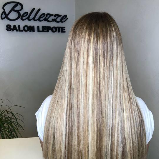 Bellezze #beograd Farbanje kose Farbanje cele dužine - duga kosa