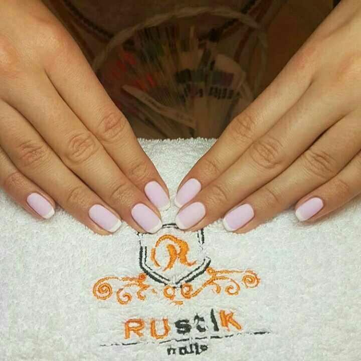 LookBook Rustik Nails Manikir + trajni lak Bluesky - french