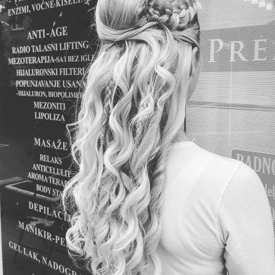 Premijer Gold #beograd Svečane i frizure za svadbu Svečana frizura - jednostavna