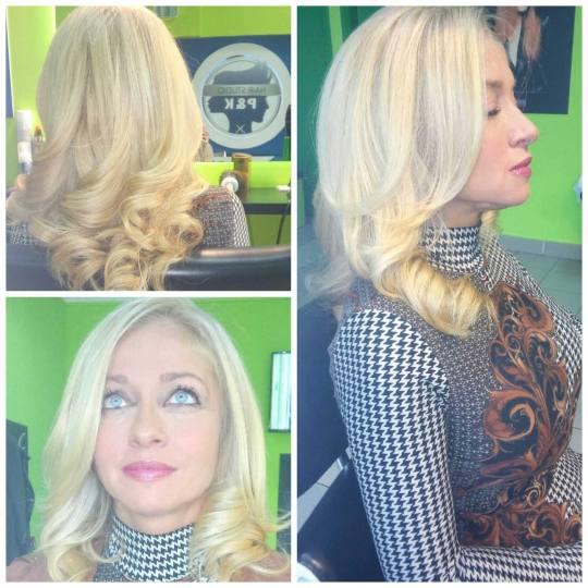 P&K #beograd Farbanje kose Farbanje izrastka Subrina farbama - kosa srednje dužine Farbanje subrina