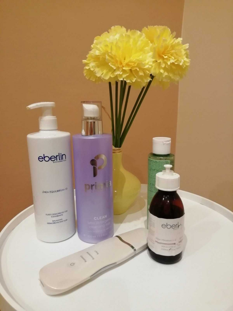 LookBook TIHA klub Ultrazvučno čišćenje lica + vitaminski serum + maska za lice