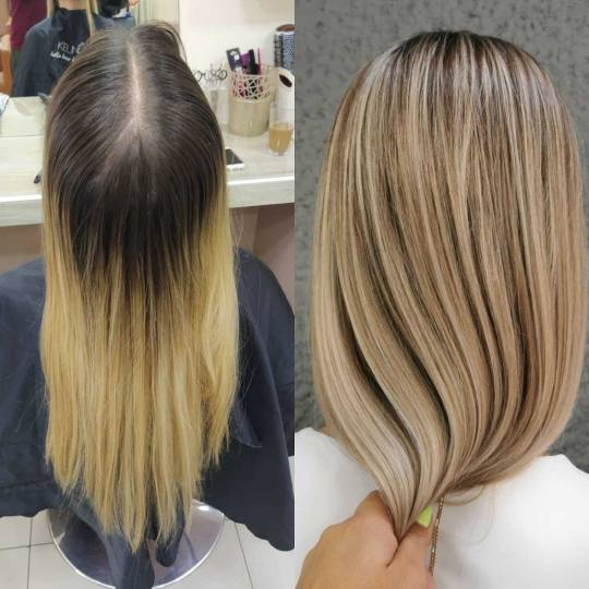 Cecix #beograd Ombre, sombre, balayage Nijansiranje cele dužine kose sa prelivom - duga kosa Ombre,