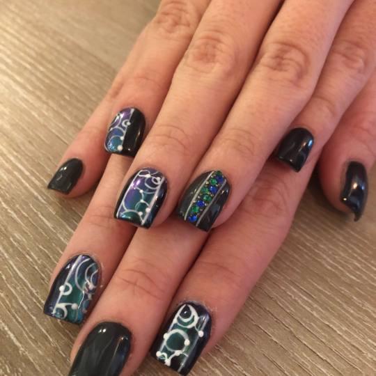 Bibi beauty centar #beograd Izlivanje noktiju Izlivanje noktiju gelom - kratki nokti nail art by BiB